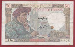 """50 Francs """"Jacques Coeur"""" Du 24/04/1941.L----B---ALPH.R.76 - 50 F 1940-1942 ''Jacques Coeur''"""