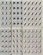 Full Sheets Of Stamps Complete Set O.G Barcelona 92 Perforated/ J.0 Barcelone 92 Feuilles Complètes Dentelés - Summer 1992: Barcelona