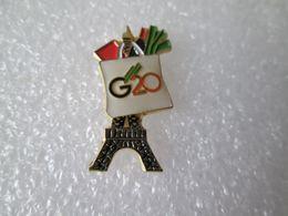 PIN'S   TOUR EIFFEL  G 20  PARIS - Steden