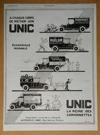 """1926 UNIC A Chaque Corps De Métier... D'après Roumy (Puteaux - Automobiles) - Paquebot """"Mariette-Pacha"""" - Publicité - Werbung"""