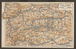 CARTE PLAN 1937 AUTRICHE LE TIROL Du BRENNER à La LIGNE Des TAUERN - KARTE 1937 ÖSTERREICH TIROL Von BRENNER Nach TAUER - Topographische Karten