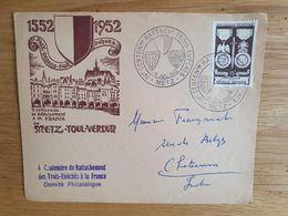 IVe CENTENAIRE RATTACHEMENT TROIS EVECHES 13 Juillet 1952 - Metz Toul Verdun - Bolli Commemorativi