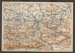 CARTE PLAN 1937 AUTRICHE SALZBURG Et Le SALZKAMMERGUT - KARTE 1937 ÖSTERREICH - Topographical Maps