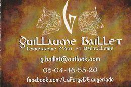 Guillaume Baillet - Ferronnerie D'Art Et Metallerie - France - Visiting Cards