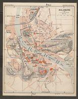 CARTE PLAN 1937 AUTRICHE SALZBURG SALZBOURG - KARTE 1937 ÖSTERREICH - Topographical Maps