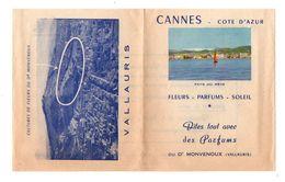 Publicité Cannes Côte D'Azur Fleurs-Parfums-Soleil Dites Tout Avec Des Parfums Du Dr Monvenoux Vallauris De 1955 - Werbung