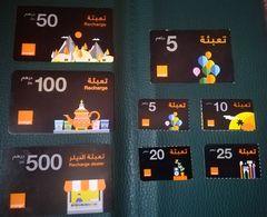 Lot Orange  Maroc Marokko Morocco Recharge Gsm Différentes Prépayée - Marokko