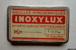 Rare Petite Boite Médicale, En Métal, Seringues Hypodermiques INOXYLUX - Vide - Boxes
