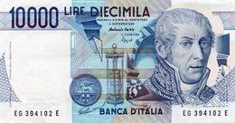 ITALIA 10000 LIRE  1984 P-112c-Firme: Fazio-Speziali Stampa: Officina Della Banca D'Italia-Roma  AUNC - 10000 Liras