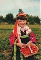 Plougastel-Daoulas Fillette En Costume Traditionel Us Et Coutumes Folklore Coiffe Fraises - Plougastel-Daoulas
