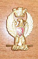 Fregio Berretto Rigido Polizia Agente Polizia Di Stato - Italian Police Hat Badge - Vintage  (186) - Polizei