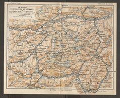 CARTE PLAN 1937 AUTRICHE LE TIROL De L'ARLBERG Au BRENNER - KARTE 1937 ÖSTERREICH TIROL Von ARLBERG Nach BRENNER - Topographical Maps