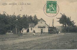 Chatillon Arret Du Tram Tramway Train. Timbrée St Leger Luxembourg  Taxe - Belgique