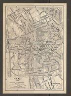 CARTE PLAN 1937 AUTRICHE GRAZ - KARTE 1937 ÖSTERREICH - Topographical Maps