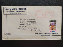 Mexico - Meter Franking Cover EMA 1975 Monterrey To U.S.A. Uprated - Mexique