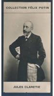 Jules Clarétie   3/3 , écrivain Né à Limoges  - Collection Photo Felix POTIN 1900 - Félix Potin