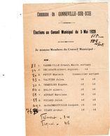 Commune De Gonneville-sur-Scie - élection Au Conseil Municipal Du 5 Mai 1929 - Maire Mr Ernest Varneville - - Historische Dokumente