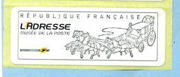 2009 LISA 2 VIGNETTE VIERGE MUSÉE DE LA POSTE - 2010-... Illustrated Franking Labels