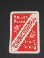 Oude Speelkaart BOCK STOUT HELLES PILSEN Brouwerij CONCORDIA - GERAARDSBERGEN Grammont - Cartes à Jouer
