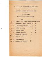 Commune De Gonneville-sur-Scie - élections Municipales Du 3 Mai 1925 - Maire Mr Ernest Varneville - - Historische Dokumente