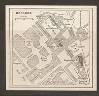 CARTE PLAN 1937 AUTRICHE HOFBURG - KARTE 1937 ÖSTERREICH - Topographische Karten