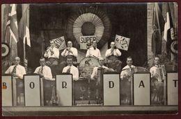 Carte Postale Photo -  Orchestre  Bordat  Musique Accordéon Musicien -  LOIRE - Musiciens Instrumentistes Jazz - France