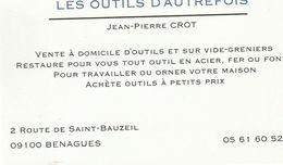 Les Outils D'Autrefois - Jean-Pierre Crot - 09100 Benagues - France - Visiting Cards