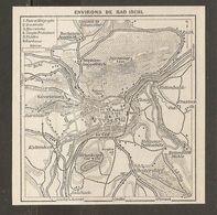 CARTE PLAN 1937 AUTRICHE ENVIRONS De BAD ISCHL - KARTE 1937 ÖSTERREICH UMGEBUNG BAD ISCHL - Topographische Karten