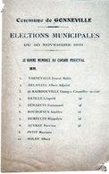 Commune De Gonneville-sur-Scie - élections Municipales Du 30 Novembre 1919 - Maire Mr Ernest Varneville - - Historische Dokumente