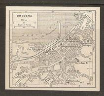 CARTE PLAN 1937 AUTRICHE BREGENZ - KARTE 1937 ÖSTERREICH - Topographical Maps
