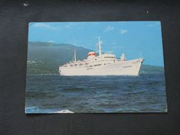 USSR Soviet Russia Unused Postcard Clean Passenger Motor Ship Armenia Black Sea Shipping Company - Barche