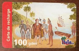 HAÏTI HAITEL 100 GDES EXP LE 06/10/2006 CARTE PRÉPAYÉE PREPAID CARTES TÉLÉPHONIQUE PHONECARD CARD - Haïti
