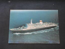 USSR Soviet Russia Unused Postcard Clean Passenger Motor Ship Taras Shevchenko Black Sea Shipping Company - Barche