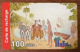 HAÏTI HAITEL 100 GDES EXP LE 31/10/2006 CARTE PRÉPAYÉE PREPAID CARTES TÉLÉPHONIQUE PHONECARD CARD - Haïti