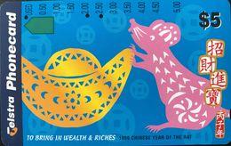 AUSTRALIE  -  Telstra  -   To Bring  In Wealth & Riches  -  $ 5 - Australia