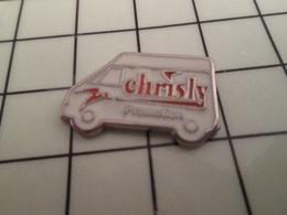 316b Pin's Pins / Beau Et Rare / THEME : TRANSPORTS / CAMIONNETTE DE LIVRAISON CHRISLY - Transportes