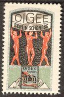 "Berlin Schöneberg "" OIGEE Ferngläser Optik "" Jugendstil Art Nouveau Vignette Cinderella Reklamemarke - Cinderellas"