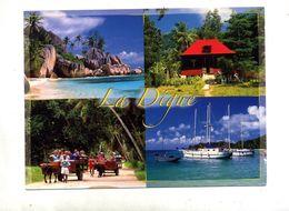 Carte La Digue Cachet Sur Poisson - Seychellen