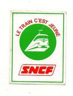 Autocollant Le Train C'est Jeune SNCF - Format : 8.5x6.5 Cm - Adesivi
