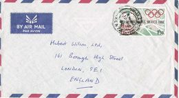 36894. Carta Aerea NAIROBI (Kenya) 1968. Stamp Olympics Games Mexico - Kenia (1963-...)