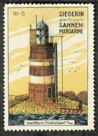"""Friedrichsort B Kiel Leuchtturm """" Siegerin Margarine """"  Vignette Cinderella Reklamemarke Lighthouse Phare - Cinderellas"""