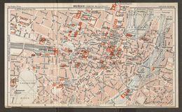 CARTE PLAN 1937 BAVIERE MUNICH CENTRE - KARTE 1937 BAYERN MÜNCHEN ZENTRUM - Topographical Maps