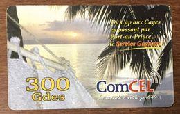 HAÏTI COMCEL 300 GDES RECHARGE GSM PRÉPAYÉE PREPAID CARTES TÉLÉPHONIQUE PHONECARD CARD - Haïti