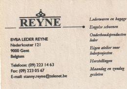 Reyne- BVBA Leder Reyne - 9000 Gent - België-Belgique - Visiting Cards