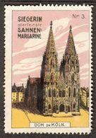 """Köln Rhein Bild: Der Dom 1913 """" Siegerin Margarine """"  Vignette Cinderella Reklamemarke - Cinderellas"""