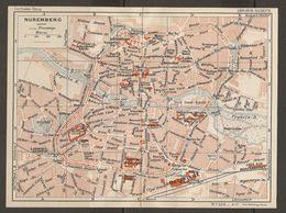 CARTE PLAN 1937 BAVIERE NUREMBERG - KARTE 1937 BAYERN NÜRNBERG - Topographical Maps