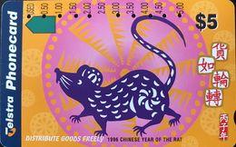 AUSTRALIE  -  Telstra  -   Distribute Goods Freely -  $ 5 - Australie