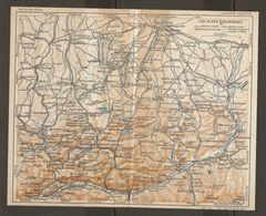 CARTE PLAN 1937 BAVIERE LES ALPES - KARTE 1937 BAYERN DIE ALPEN - Topographische Karten