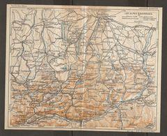 CARTE PLAN 1937 BAVIERE LES ALPES - KARTE 1937 BAYERN DIE ALPEN - Topographical Maps