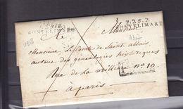 LETTRE 1818 P.25P. MONTELIMAR SIGNE CONTE  DE ROCHEFORT DEMANDE ETRE DECORATION ORDRE DE JERUSALEMN ORDRE DE MALTE - 1801-1848: Precursori XIX